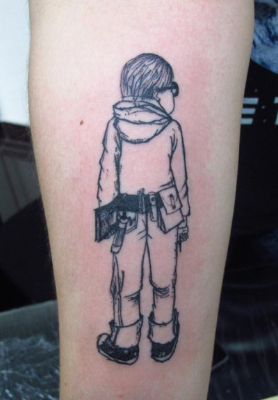 seventytimes7:  Finally got my Harriet The Spy tattoo this week after wanting it for years! If you can't tell, it's on my right forearm below the elbow ditch. Me encantó como salió, hecho por Oscar de Zhimpa Tattoos en Miraflores.
