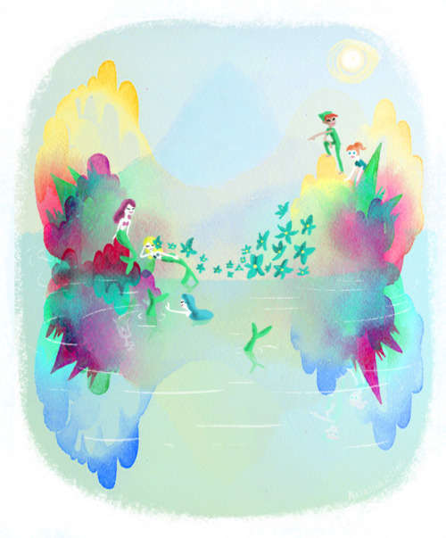 natashakline:  Mermaid Lagoon For GabCollab: http://gabcollab.tumblr.com