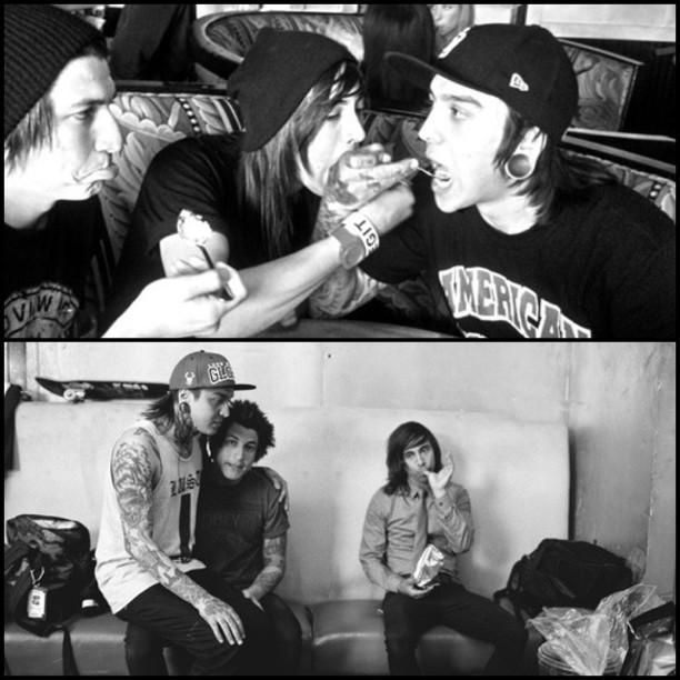typical-bandrelated-url:  How to deal with cheating.  Jaime: gets sad and emotional. Vic: eats his emotions away.  PS: Tony is a band whore.