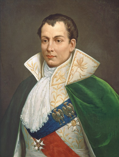 "Portrait: Joseph Bonaparte, onetime king of Spain and Naples, Napoleon Bonaparte's older brother. After Napoleon's defeat at Waterloo in 1815, a ""wave of French refugees landed in Philadelphia. During his 17 year exile, Joseph resided at 260 S. Ninth St., just north of Pennsylvania Hospital, leased several other houses in Philadelphia. and built a mansion ""on a bluff overlooking the Delaware River"" in Bordentown, N.J. Hmmm… If we #FollowtheMoney$$$  we find mystery and intrigue. Apparently, Joseph had ""close ties with Stephen Girard, the wealthy banker,"" It's even rumored that the brother of the fallen emperor, traveling under the name Lazare Carnot, ""carried a case of jewels and had hidden a cache of gold in Switzerland for recovery when he was settled.""  (Philly.com/Daly Stew)"