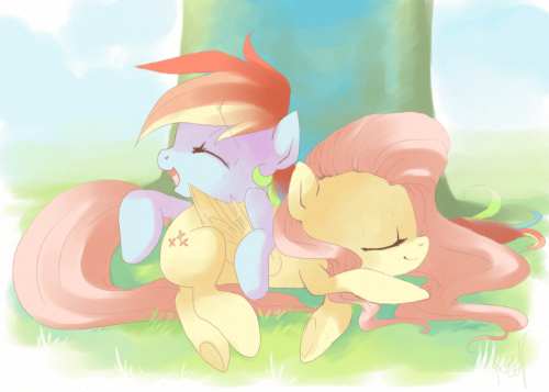 "xaztein:   ""Lazy Pegasi""  Oh.. I finished it Oekaki done at Bronyland.com"