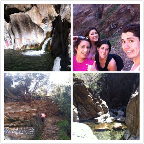 3.5 hour hike including freezing waters, 2 waterfall climbs, rope burn, and one head injury =p Feeling the soreness today, so bad. But it was glorious.