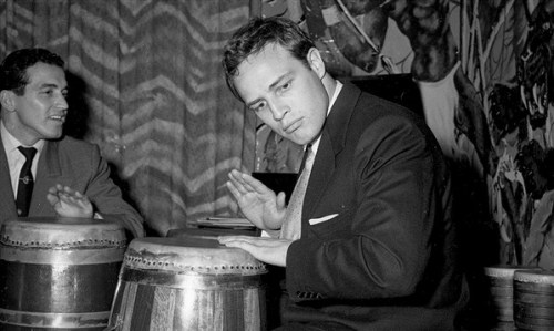 Marlon Brando, laying down some beats.