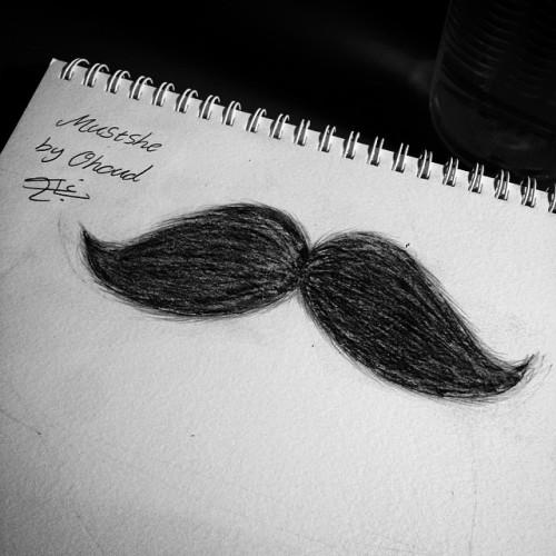 Be #mustache 🌚❤️#كلنا_رسامين #شنب #Drawing