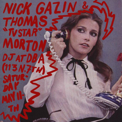 nickgazin:  This is a flyer I made for a recent DJ gig. Not too fancy.