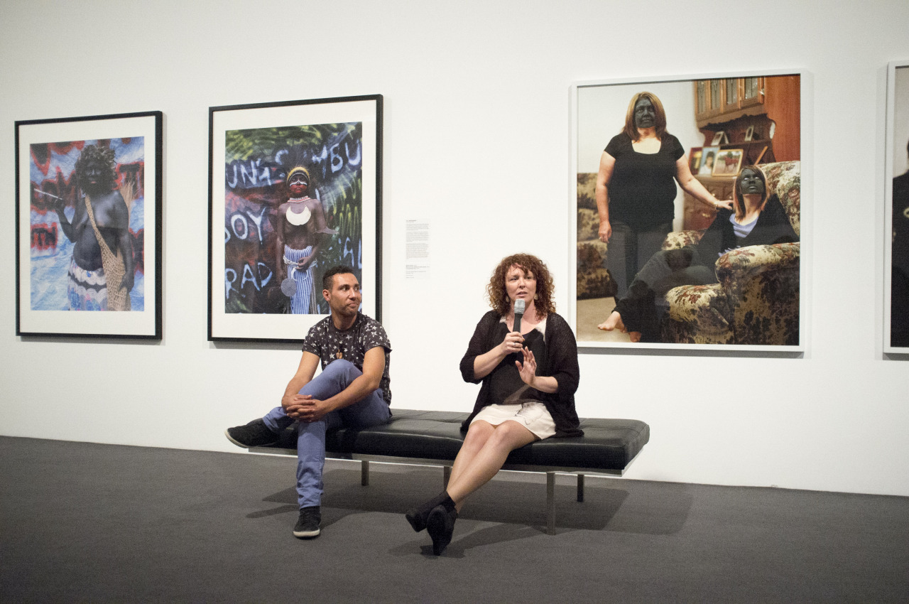 Bindi Cole and Eric Bridgeman speaking at MGA, Monash Gallery of Art, Saturday 11th May 2013 Two of my favourite Australian Artists. Bindi shows her Not Really Aboriginal project, And Eric Bridgeman shows some of his New Photographs from Kokwara Trail