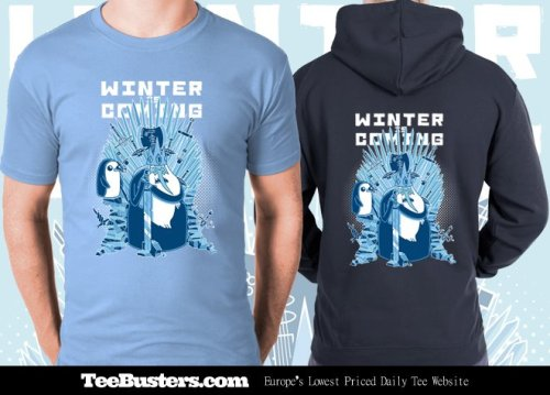 gillesboneillustrations:  Winter Is Coming - TeeBuster.com by *GBIllustrations Winter is Coming' limited edition Game of Thrones and Adventure Time mash-up tees & zoodies by Gilles Bone now on sale for only 48 hours! Tees only €8.99! Combine your 'Winter is Coming' zoodie with a tee for a €5 discount! CLICK HERE TO BUY