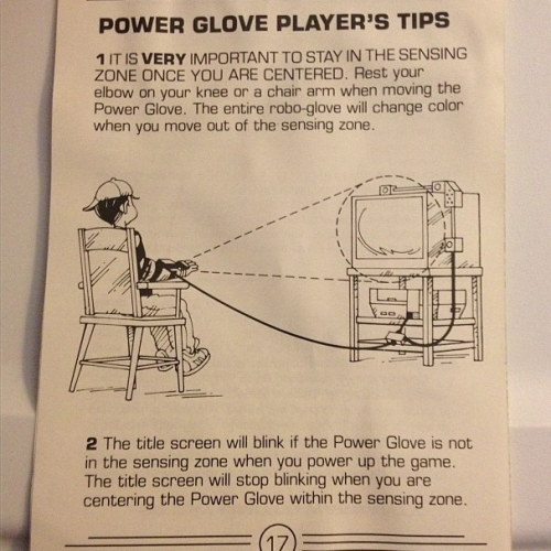 How many things are wrong with this picture? Power Glove instruction manual — thanks to Peter Skerritt for this one.