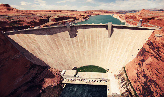 Glen Canyon Dam panorama. Explore! on Flickr.