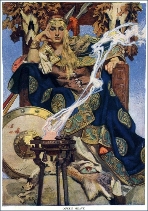 chimneyfish:   Queen Meave J. C Leyendecker