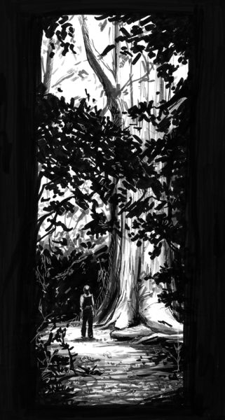 Getting back into the 30 day drawing gig. This one is my favourite place, which is the Kasuga Shrine in Nara, Japan. This is referenced from a picture I took of my friend when we veered away from the main path (which we did a lot while we were in Japan lol) and found this amazingly huge tree!! Honestly, you can look at pictures of this shrine, but it doesn't do the place justice. There's an amazing sense of calmness being entirely surrounded by amazing forest. There's also a strong sense of history and mystery tied to this place as well. It's one of those places you have to visit to get the full effect, and I feel super blessed to have been able to visit it twice.