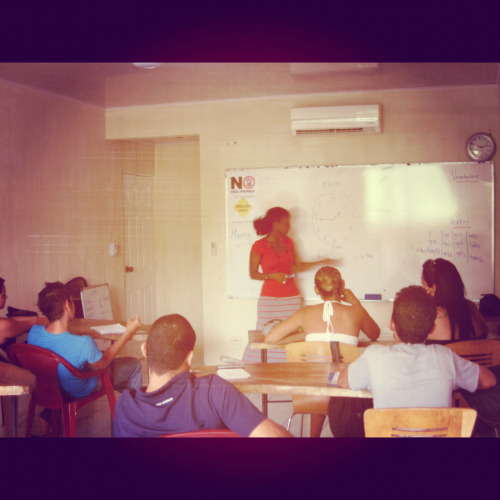 Teaching English in Central America.