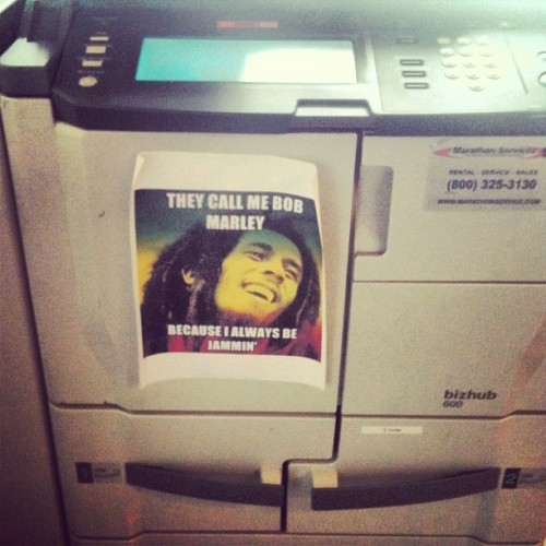 Office humor. Printer Marley. #keyandpeele