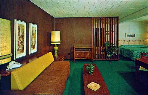 1950sunlimited: Autoport Motel suite 1960s State College, PA Edge and corner wear