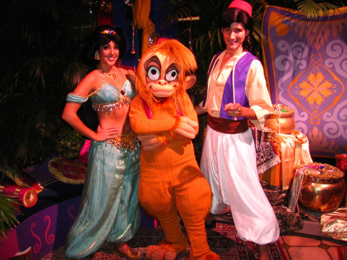 Jasmine, Aladdin and Abu at Mickey's Not-So-Scary Halloween Party by Loren Javier on Flickr.