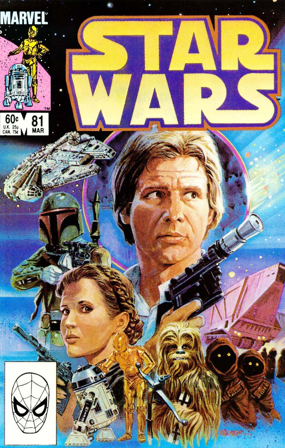 comicbookcovers:  Star Wars #81, March 1984, cover by Tom Palmer