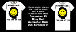 If you're in Wellington this Saturday you should come see us at ShirtStock. We'd love to meet some of you guys! www.shirtstock.co.nz