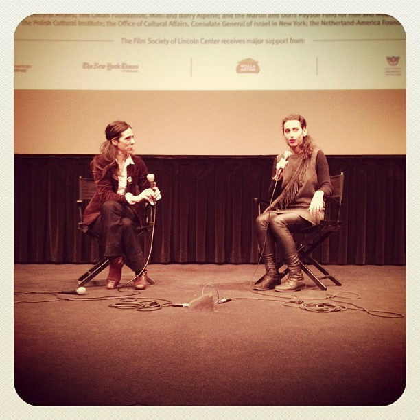 Oma and Bella director Alexa Karolinski during Q&A 2013 #NYJFF