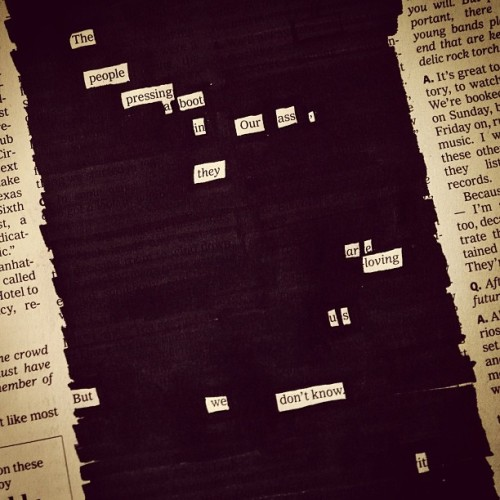 A newspaper blackout by Austin Kleon
