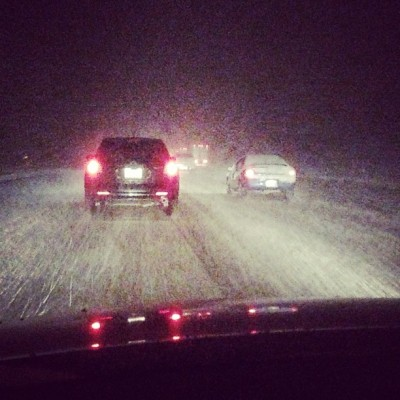 Got stuck in the Grapevine… 3hrs :( #jpnunez #snow #grapevine #california #traffic