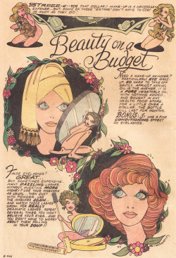 adelphe:  Beauty on a Budget Young Love Vol. 18 No. 110, June-July 1974  ∞