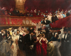 carolathhabsburg:  New year party!! By Chales Hermans. 1880s.