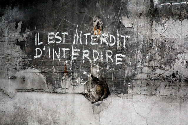 Uncredited Photographer     Il Est Interdit D'Interdire (It Is Forbidden to Forbid), Student Grafitti, Paris     May, 1968
