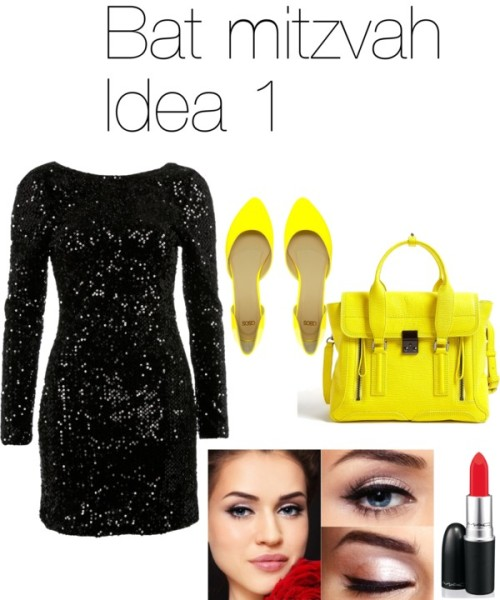 Bat mitzvah by apps featuring a bodycon dressBodycon dress, $39 / ASOS patent leather ballet flat / 3.1 Phillip Lim real leather handbag / Lipstick