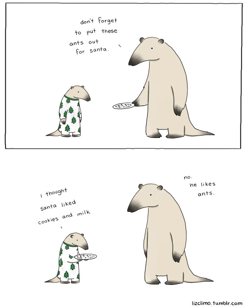 thefrogman:  Drawn by Liz Climo [tumblr | twitter] for The Fluffington Post