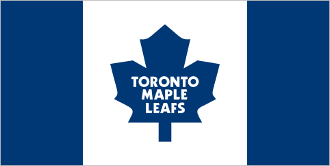 Toronto Maple Leafs (unofficial) It's playoff season, which means the whole city of Toronto is going hockey crazy. As I've been walking around town, I've been seeing Maple Leafs flags flying all over. There are actually a whole bunch of different designs, but this one is by far the coolest. It takes the Canadian flag and gives it a Toronto coat of paint.