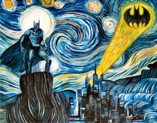 batman on a starry night