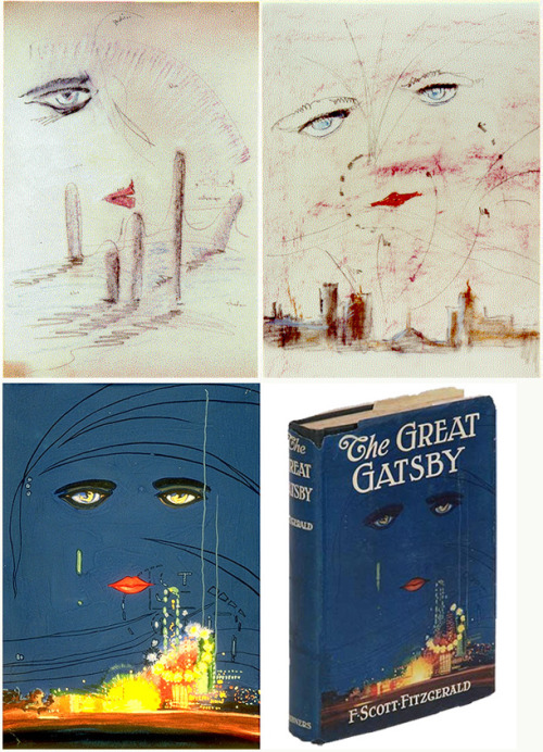 explore-blog:  Early sketches for The Great Gatsby cover by Francis Cugat. Pair with the most intelligent meditation on the recent Gatsby cover controversy.