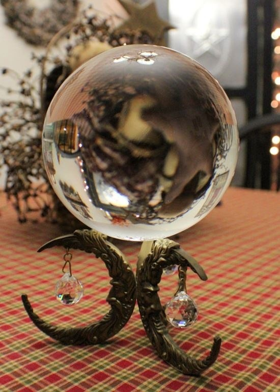 wiitch-craft:  magickandcrack:  Vintage Crystal Ball with Stand via Etsy  ✯☽