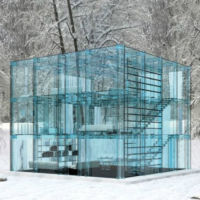 architecturia:  Charisma Arts Glass House By Santa