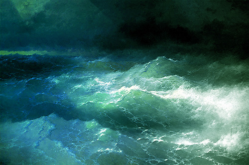 Among the Waves (1898) Ivan Aivazovsky