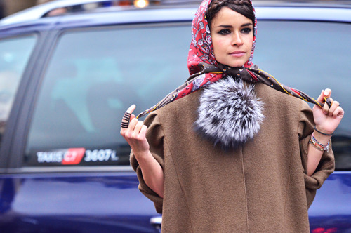 fuckyeahstreetstyle:  Miroslava Duma Paris Fashion Week