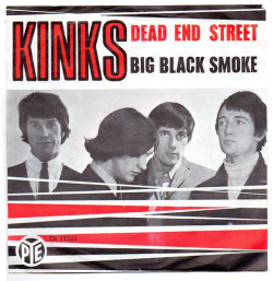"The Kinks ""Dead End Street"" / ""Big Black Smoke"" Single - Pye Records, Holland (1966)"
