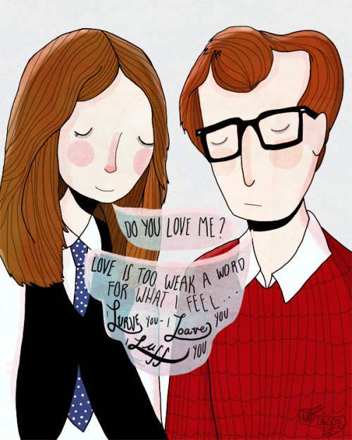 "nanlawsketch:  My piece for the upcoming show at Gallery1988 - A Woody Allen Tribute show called ""The Humorist"" This will be a limited edition of 20 signed and numbered prints. The show opens this Friday in their Venice location - More info HERE  My mom quotes this all the time. :)"