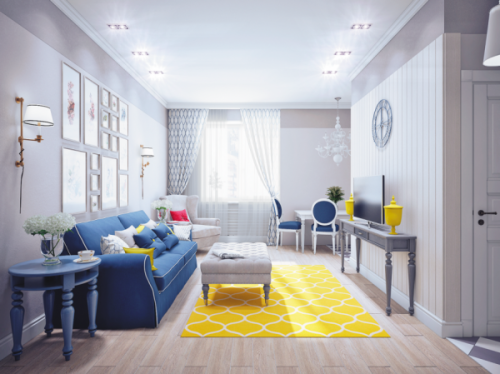homedesigning:  (via Blue and Yellow Home Decor)