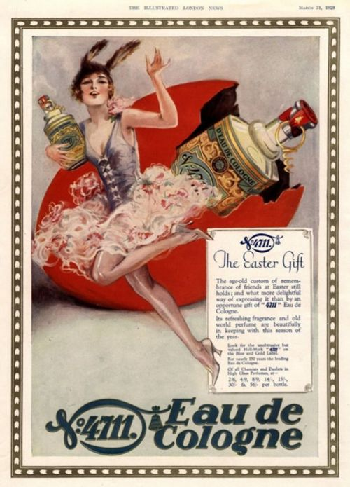weirdvintage:  4711 Eau de Cologne ad, 1928 (via Vintage Ad Browser)