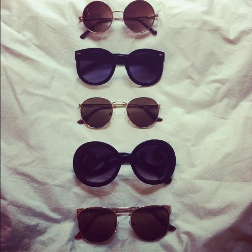 "fashionpassionates:  SHOP THE RETRO SUN GLASSES COLLECTION! Get your sunnies here: MUST HAVE GLASSES COLLECTION ""get your fashion fix with fashion passionates!"