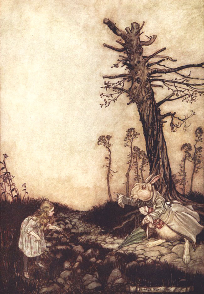 secretcinema1:  Alice Meets the White Rabbit, 1907, Arthur Rackham