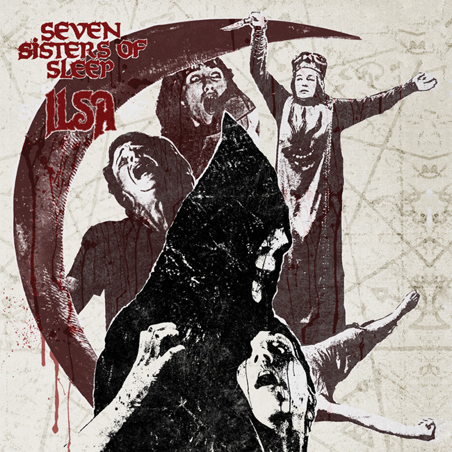 "Seven Sisters of Sleep / ILSA split 7""EP front cover"