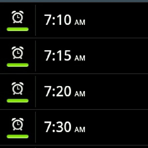 letsgetrecklessinthestarlight:  SO MANY ALARMS! #hell #alarms #morning #wakeup #friday