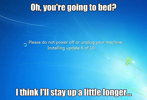 tastefullyoffensive:  Scumbag Windows Updates