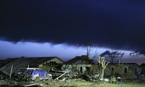 Oklahoma: What are tornadoes, how are they classified and how are they formed? Experts including a meteorologist, storm chaser and pollster answer your questions on the Oklahoma City tornadoes. Follow pictures as they come in.  Photograph: Ed Zurga/EPA
