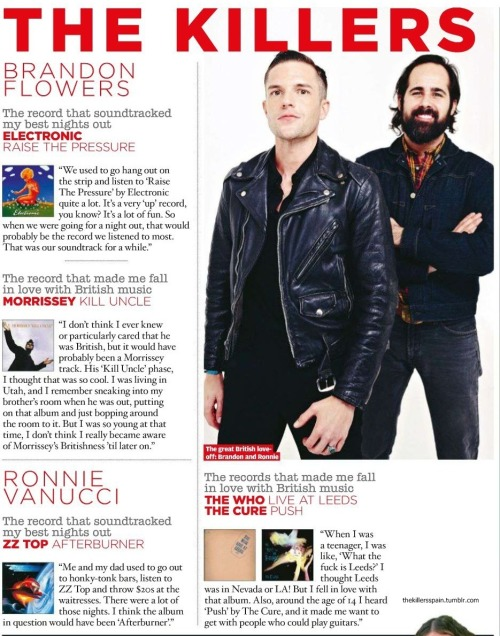 [HQ] NME - The Soundtrack Of My Life: Brandon Flowers and Ronnie Vannucci