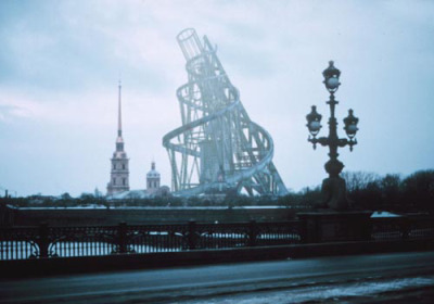 uncube:  Extracts from a film by Takehiko Nagakura: The Unbuilt Monuments, A Virtual Architecture Film Series: 1919-1920 Tatlin http://www.youtube.com/watch?v=lwuPCDhpcfY