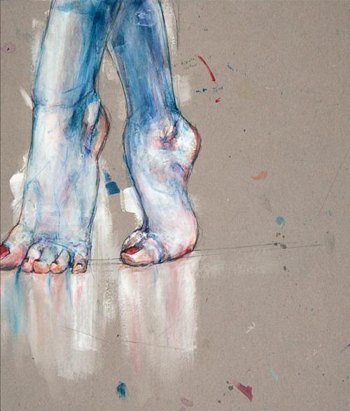 white dancing ballet dance blue color rough Abstract acrylic red nails aquarelle croquis esquisse