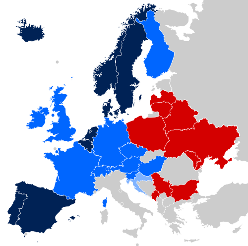 Mapping the recognition of same-sex unions in Europe. Navy = same-sex marriage legal; dark blue = other type of domestic partnership; light blue = unregistered cohabitation; grey = unrecognized; red = constitution limits marriage to opposite-sex couples. Also see maps of other LGBT rights in Europe, marriage equality around the world, LGBT rights in the American workplace, and rules about sexual orientation and military service. At the end of the day, it's a pretty simple proposition.